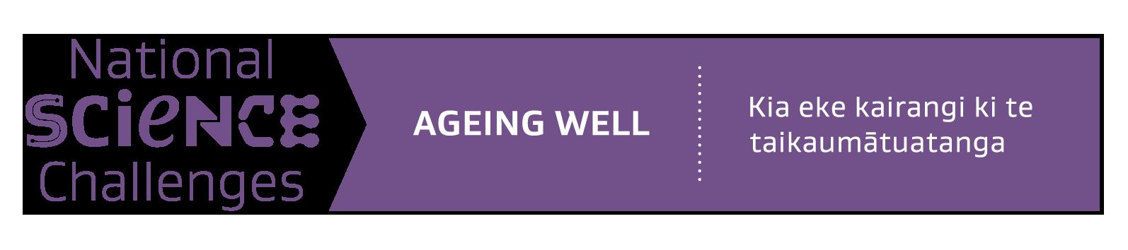 Ageing Well Ribbon Horizontal Logo 2