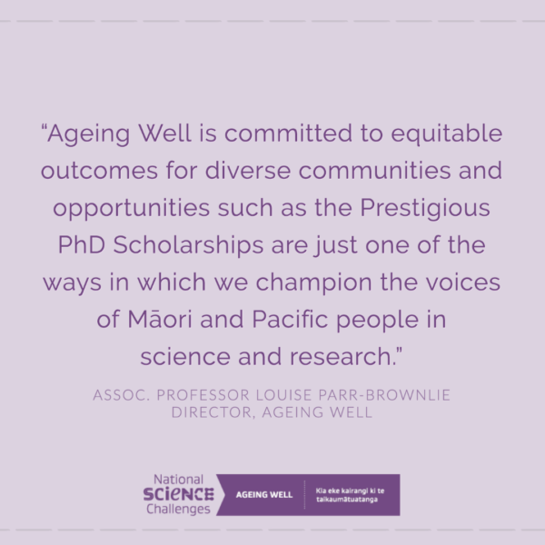 Quote from Ageing Well Director, Associate Professor Louise Parr-Brownlie.