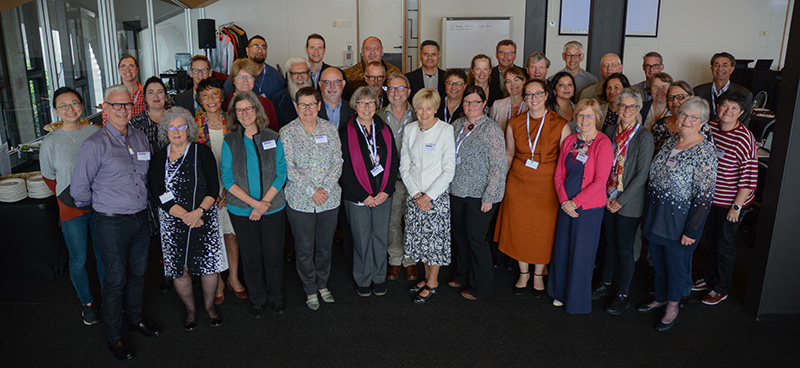 Group photo of all who attended the Ageing Well Symposium 2020