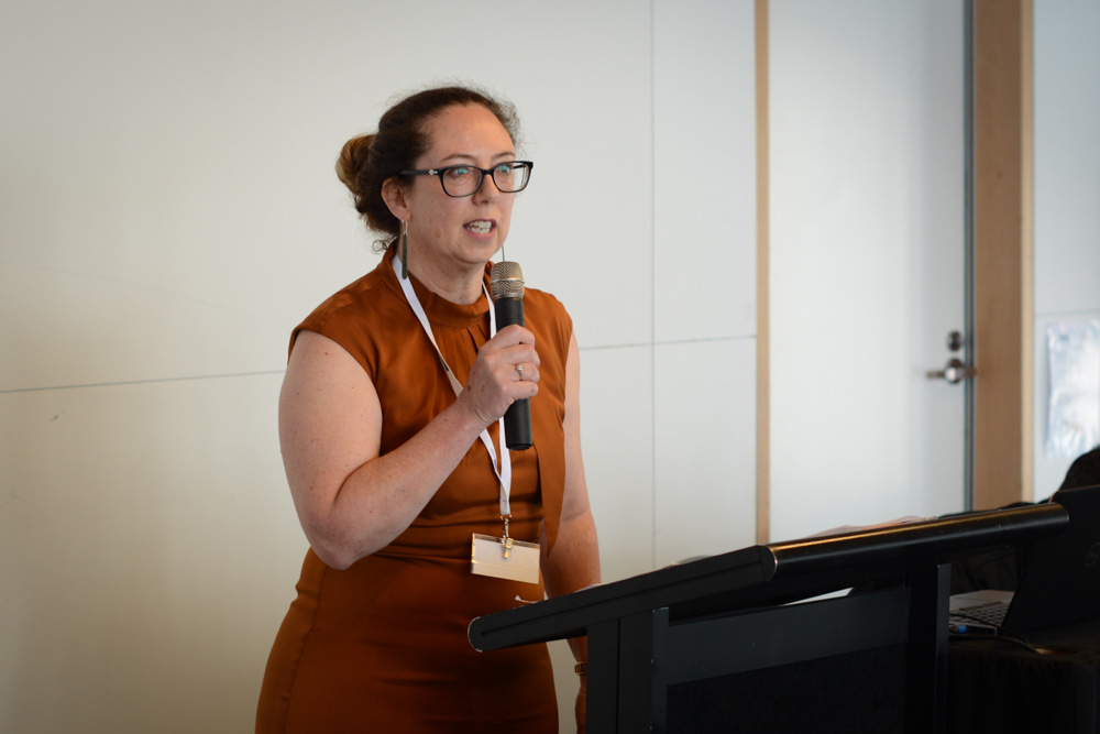 AWNSC Director Louise Parr-Brownlie speaking at an event