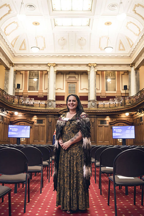 Ageing Well researcher Joanna Hikaka officially received the Fulbright Science and Innovation Graduate Award at Parliament House
