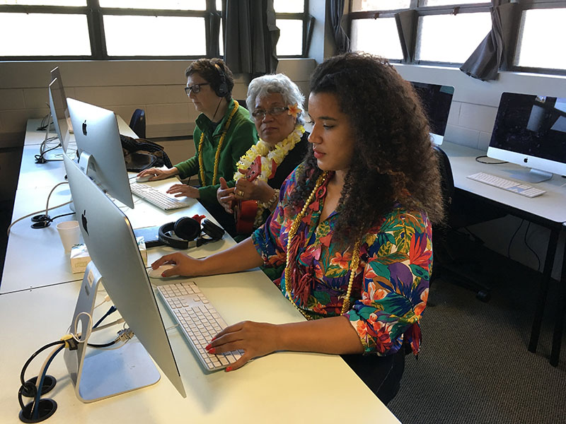 Researchers and participants in Dr Ofa Dewes' study, Tāpinga 'a Maama.